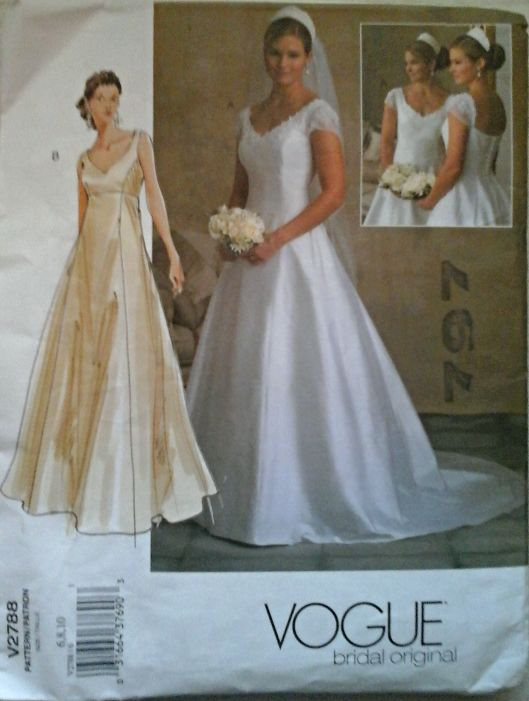 Items Similar To Vogue UNCUT Misses Weddiing Gown On Etsy