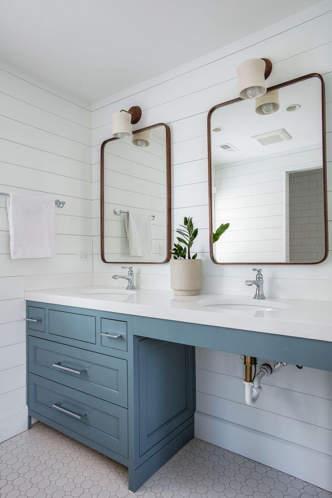 Benjamin Moore Hc 145 Van Courtland Blue Cabinet Is A Custom Color To Match A Tile Client Liked Color In 2020 Master Bathroom Design Ada Bathroom Bathroom Inspiration