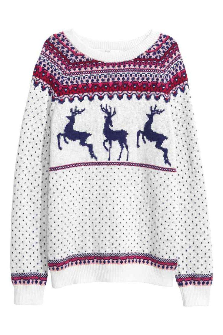 Jacquard kötésű pulóver | H&M