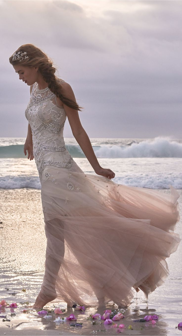 Blush ombre tulle gown