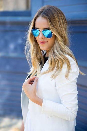 ray ban aviator sunglasses blue lens  we are loving these flash lenses ray bans! come in to @linda gilbert. wayfarer raybanrayban aviatorsaviators sunglassesstyle