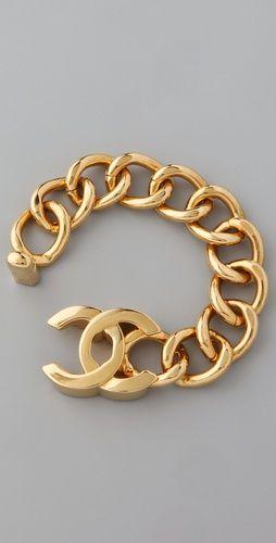 Vintage Chanel CC Bracelet