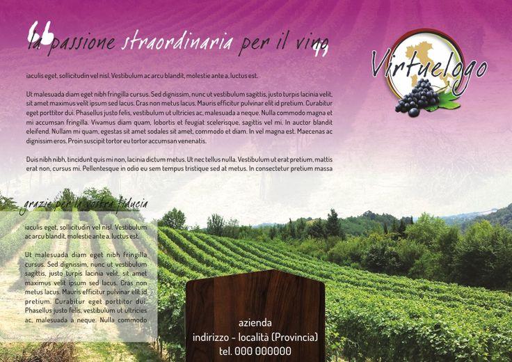layout grafico per aziende vinicole in vendita su virtuestampaonline.it