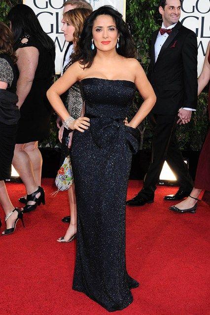 Salma Hayek in a Gucci Première gown
