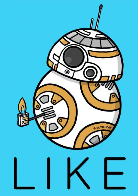 BB-8 giving you a thumb up.