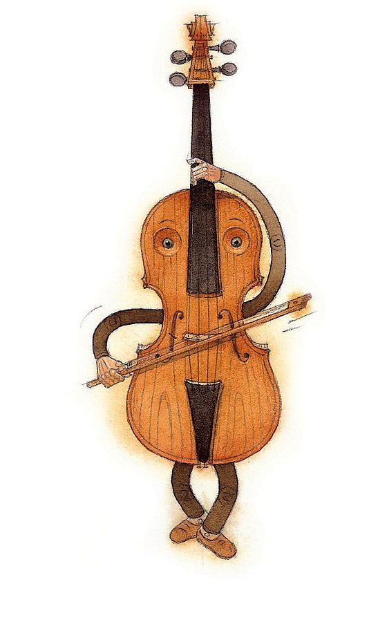 Stradivarius Violin Painting by Kestutis Kasparavicius