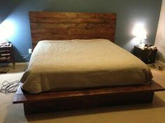 DIY bed frame | need this in the boys room