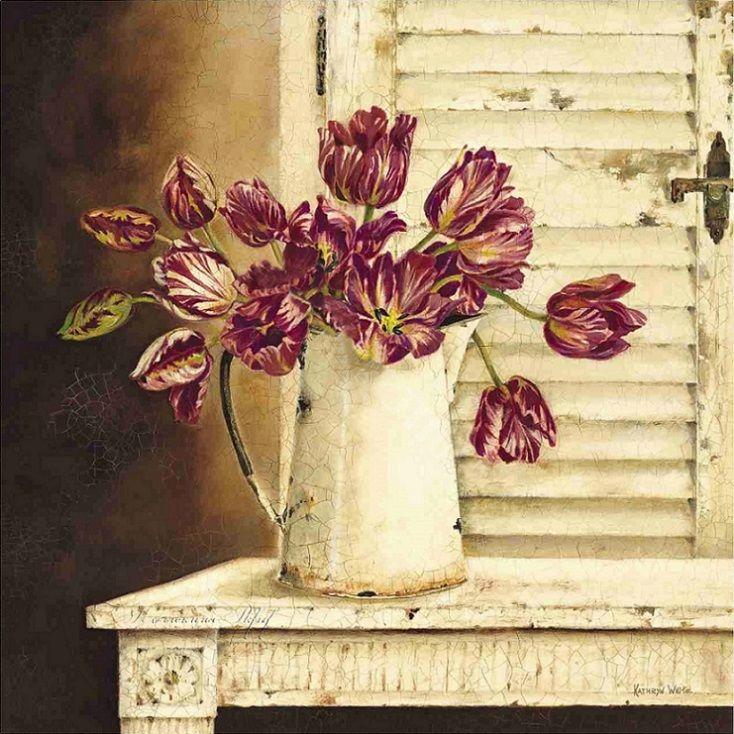 Crimson Tulips (Kathryn White)