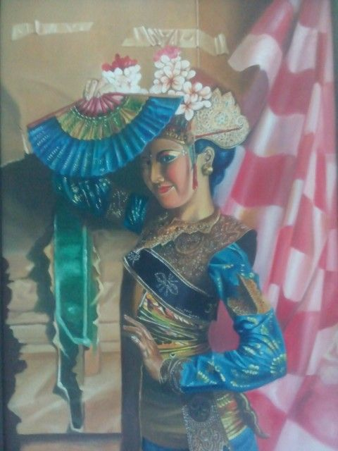 """It is my painting title """"Bali Dancer"""" 2015, oil on canvas 79x90 cm"""