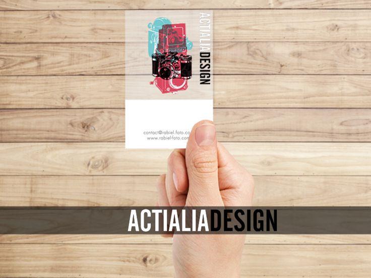 Impresión de Tarjetas Comerciales Transparentes. Diseño gráfico opcional. Precios imprenta online en www.actialia.com