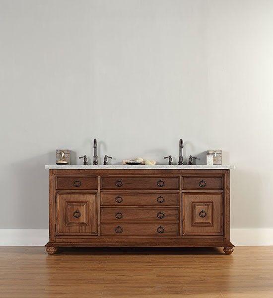 James Martin Mykonos (double) 72-Inch Traditional Bathroom Vanity - Cinnamon