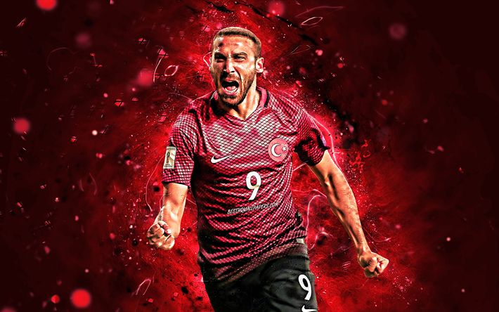 Download Wallpapers Cenk Tosun, Turkey National Team, Goal