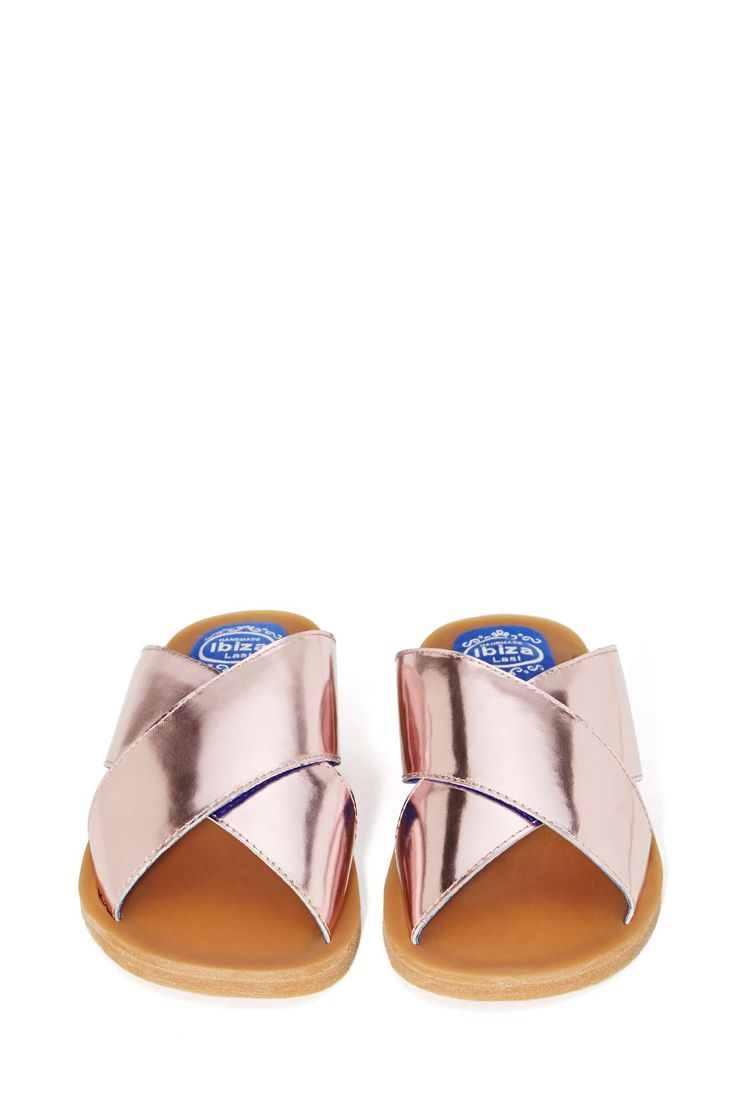 Jeffrey Campbell Caprese Sandal - Rose Gold | Shop Shoes at Nasty Gal