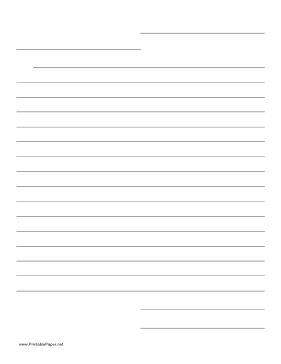 LETTER FRIENDLY TEMPLATE