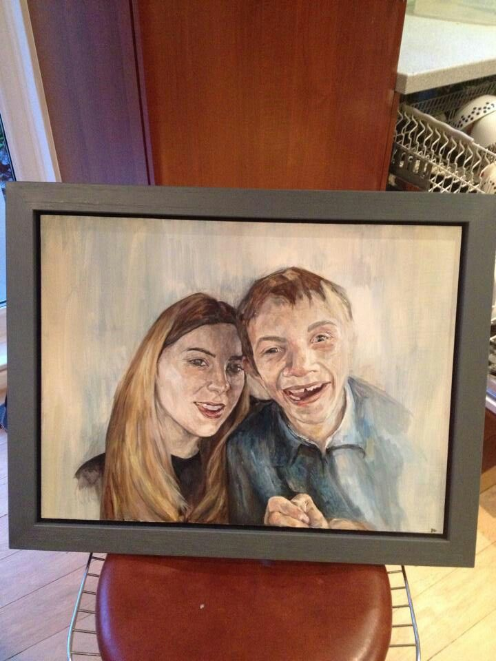Framed Lucy and Miles