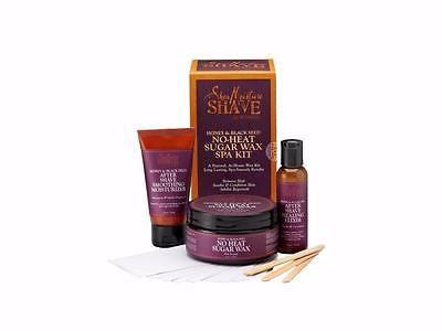 New-Shea-Moisture-Honey-amp-Black-Seed-No-Heat-Sugar-Wax-Spa-Kit-For-Women