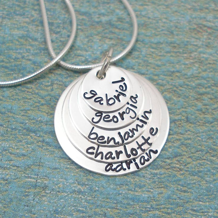 Handstamped Necklace Personalized Jewelry