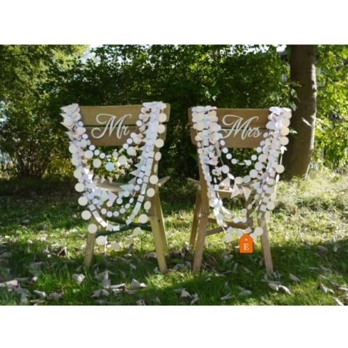 Our original hand-painted watercolour Delysia multi-strand chair garlands 💕   . . . . #summerwedding #madewithlove #summervibes #weddinginspo