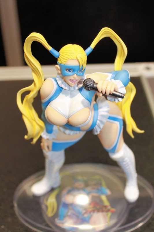 Kotobukiyas Rainbow Mika Bishoujo statue is curvey   To date Kotobukiya has released Chun-Li Cammy Juri Sakura Poison and Ibuki (with a few exclusive variants). Later this month Rainbow Mika will join the line in North America and she is quite different from the rest in a few different ways.  Ive been a fan of Kotobukiyas bishoujo line for some time and I have been collecting various pieces over the years including Marvel and DC characters. When Kotobukiya announced that it would be…