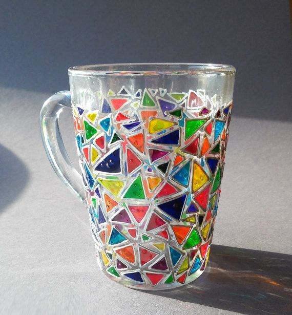 Coffee mug  Mosaic glass mug  Sun catcher mugs от ArtMasha на Etsy