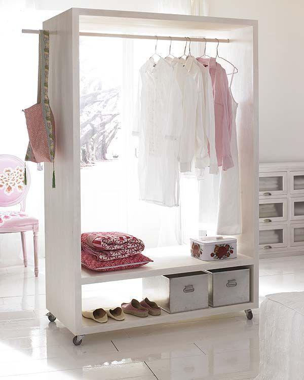 Luxury  mit kleinem Regalfach unten ist ideal als Zwischenablage f r Hemden Blusen Entscheiden Sie sich f r wei lackiert oder bemalen Sie es individuell