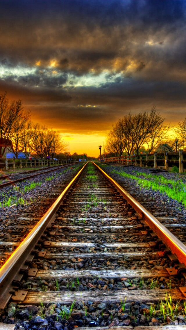 Rails to infinity source Blur photo background