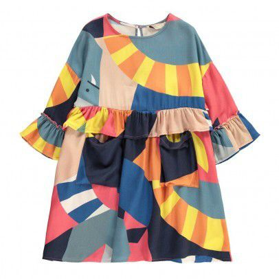 Stella McCartney Kids Geometric Pattern Vivienne Dress Multicoloured