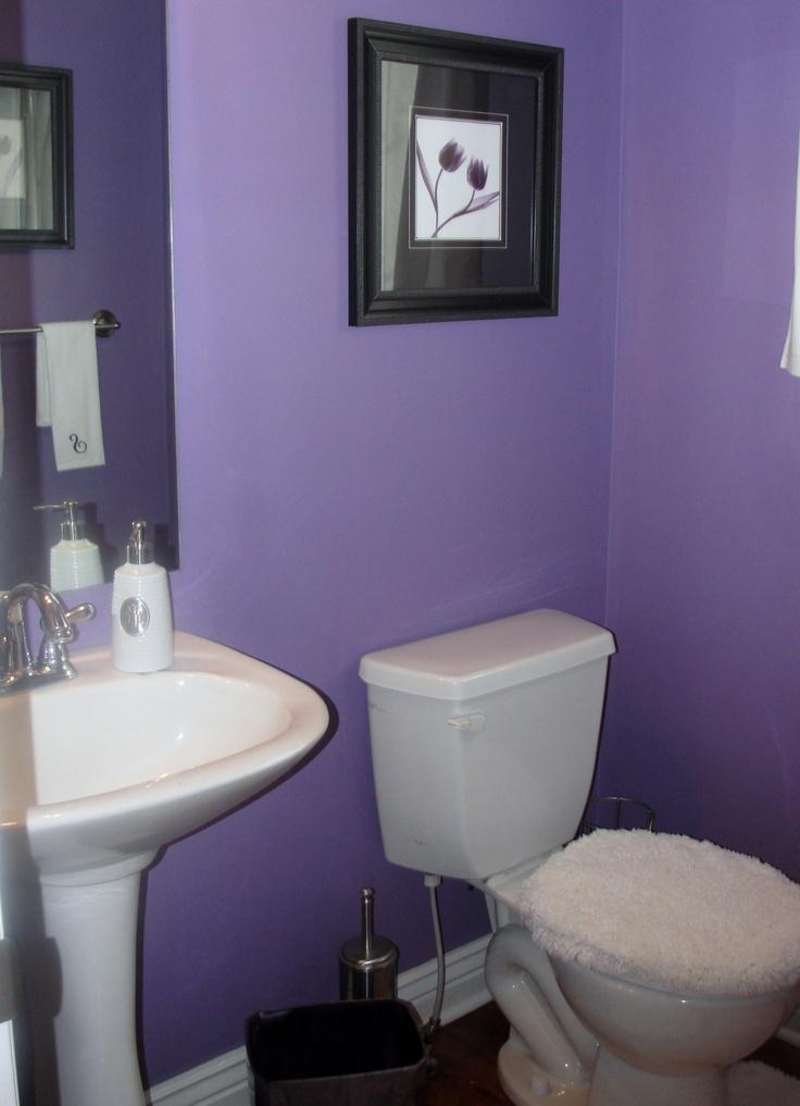 Powder Room Paint Color Valspar 274a 5 Majestic Purple