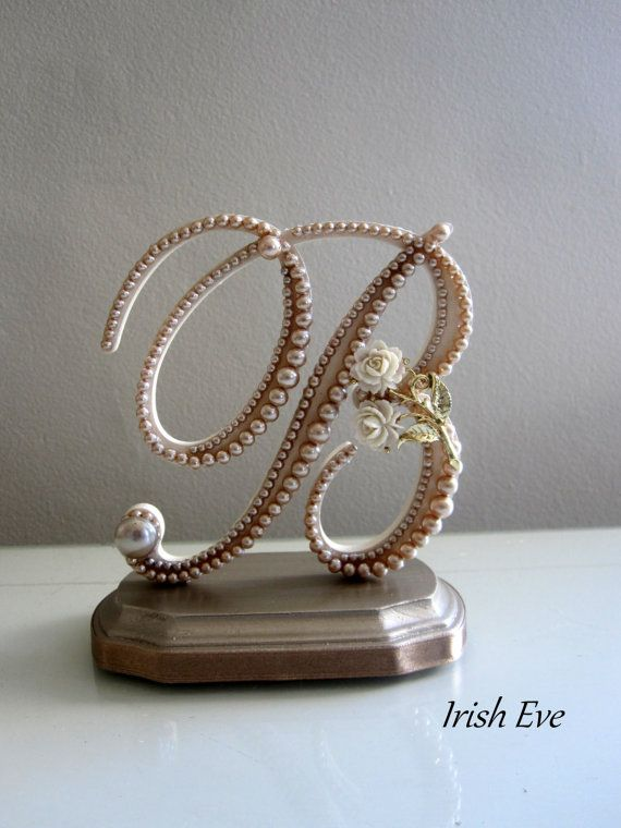 Wedding Cake Topper & Display  Made to Order Monogram by IrishEve, $65.99