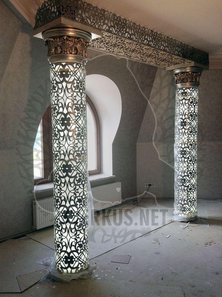 Кверкус - изготовим световые столбы и колонны по индивидуальному проекту на заказ.