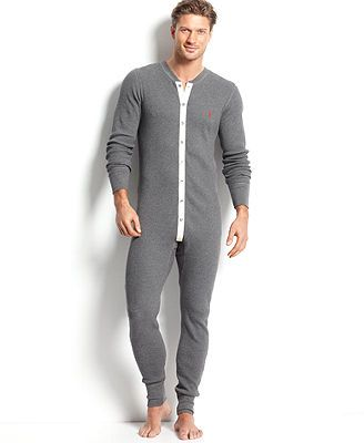 Ralph Lauren Men's Loungewear, Thermal Union Suit