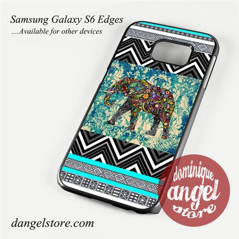 Chevron Blue Aztec Elephant Phone Case for Samsung Galaxy S3/S4/S5/S6/S6 Edge Only $10.99