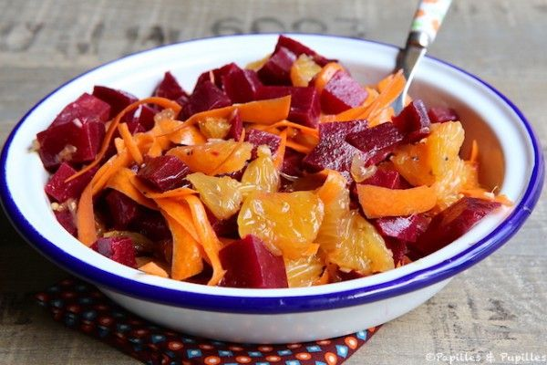 Salade de betterave oranges et carotte                                                                                                                                                                                 Plus