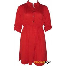 Gorgeous red shirt dress, perfect for that casual bbq or gathering of friends. Has a cinched in waist to accentuate those lovely curves and a 3/4 folded sleeve with a studded button. The pointed collar and shirred back yoke design add that little bit of fancy without being too over the top. Finishes just above the knee depending on your height. Add a pair of wedges and maybe a belt and your set to go.