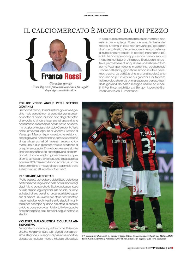 """Franco Rossi: """"Il calciomercato è morto"""""""