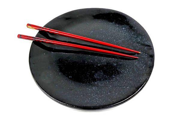 Dinner Plate Set, Black Kitchen Décor, Organic Modern Plates, Black Pottery Dishes, Black Dinnerware, Black Home Décor, Ceramic Black Plates