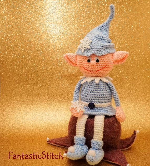 Crochet pattern Christmas elf Amigurumi Instand Download PDF