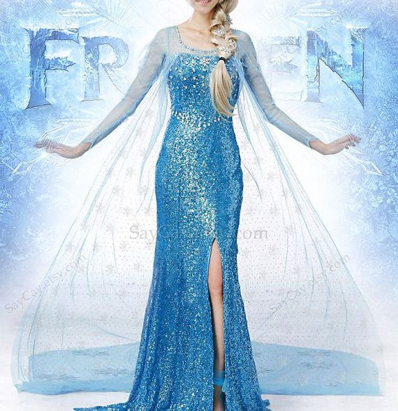 Gorgeous Elsa Dress Frozen Elsa Dress Queen Elsa Dress by SayCay, $89.00--OMG I would LOVE to have this!!!