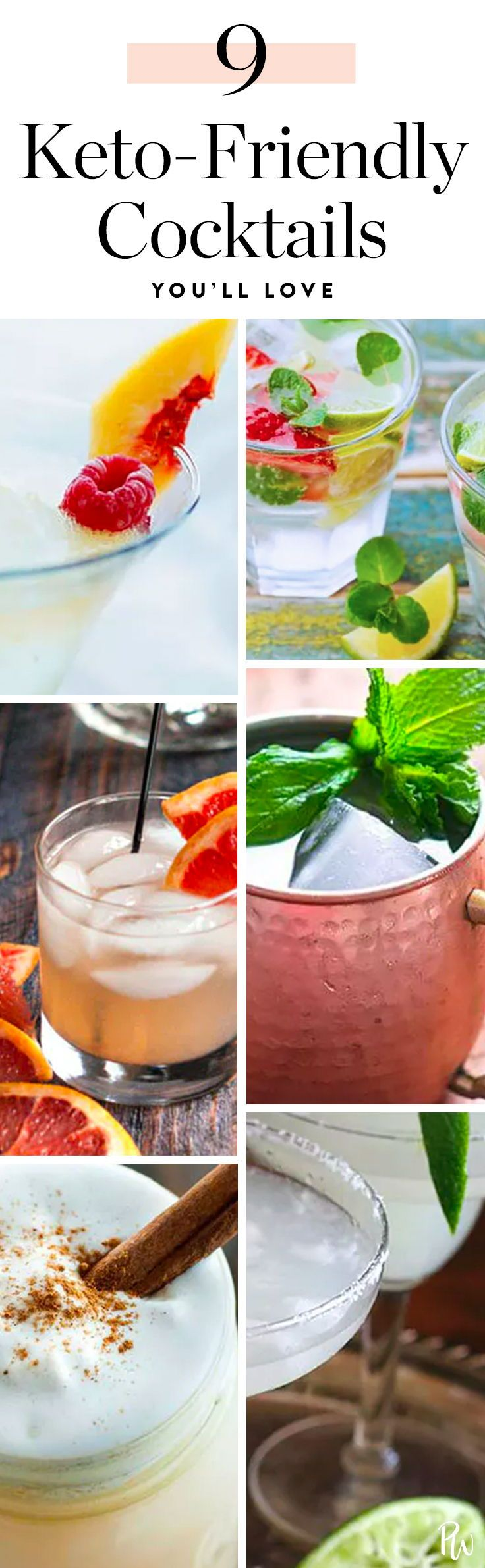 9 Keto-Friendly Cocktails That Are Totally on Your Diet #ketogenic #ketodrinks #ketogenicdiet #cocktailrecipes