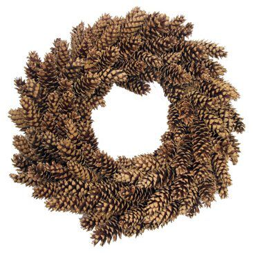Check out this item at One Kings Lane! Natural Pinecone Wreath, Dried