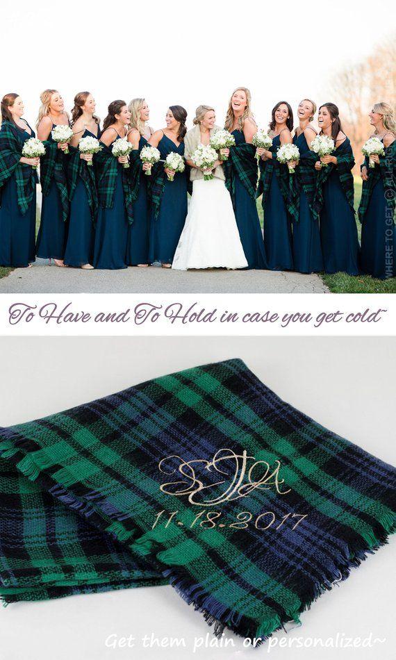 Demoiselle d'honneur couverture jeter, écharpe de couverture, châle de mariage hiver, écharpe à carreaux, cadeau personnalisé de demoiselle d'honneur, enveloppements de mariage pour demoiselle d'honneur – Finally!