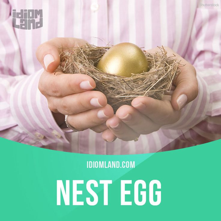 """""""Nest egg"""" is an amount of money that you have saved. Example: Son, we worked hard for many years to build up a nest egg and we've decided to spend it on your university education."""