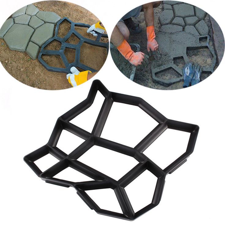 sale artificial diy garden stone walk maker mould pavement concrete mold driveway paving brick patio #paving #bricks