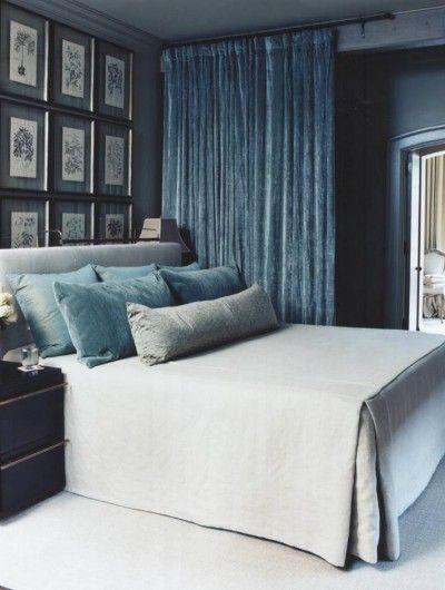 Dégradé ton sur ton pour les coussins et rideau installé en séparation