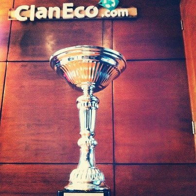 Copa primer lugar campeonato Recycla.
