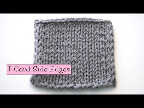 Lær å strikke i-cord - opplegg, sidekanter og avfelling