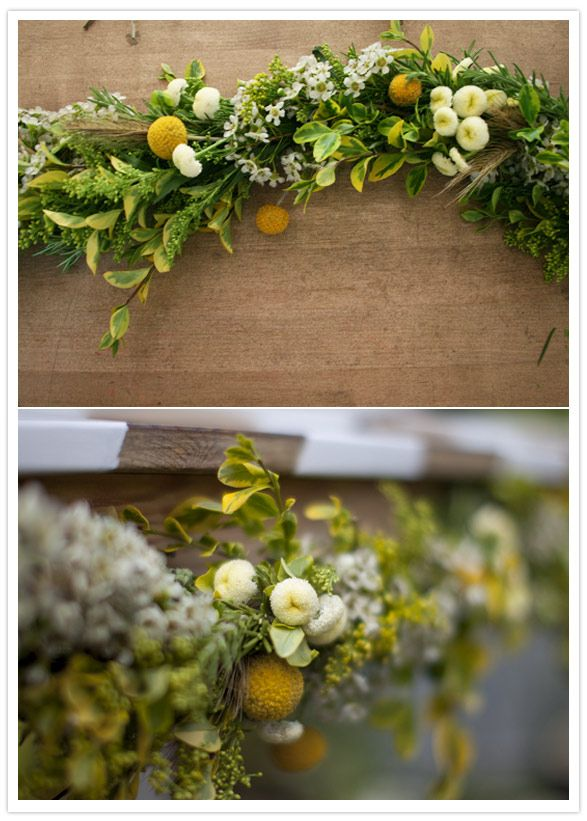 DIY Floral Garland - How to make a floral garland.