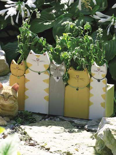 Katzen für den Gartenzaun