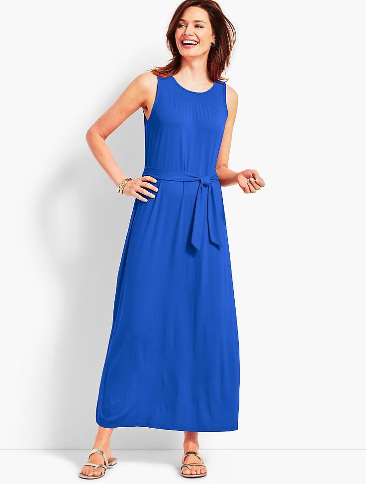 Belted Maxi Dress | Talbots