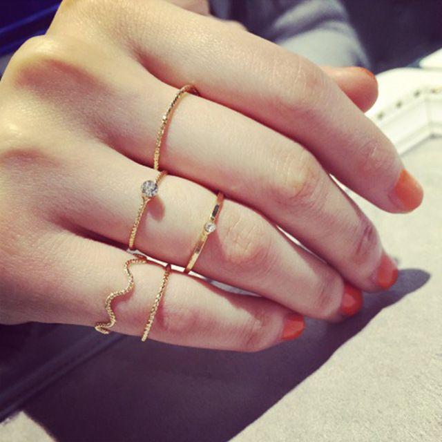 Anillos 5 él set MIDI anillo las puntas de los dedos anillo Knuckle india tobillo Boho